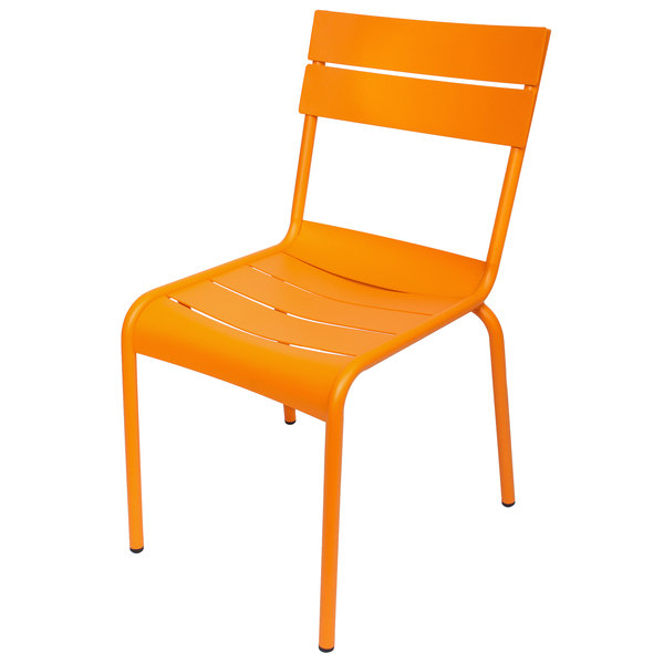 BFM Seating MS802CCT Beachcomber Citrus Stackable Aluminum Outdoor / Indoor Side Chair