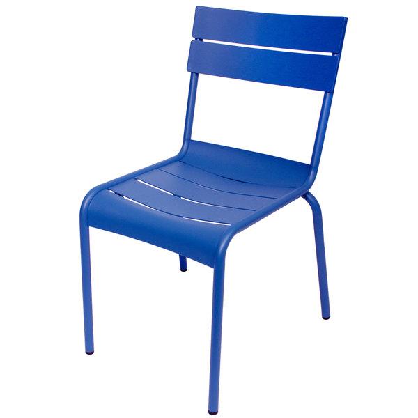 BFM Seating MS802CBY Beachcomber Berry Stackable Aluminum Outdoor / Indoor Side Chair