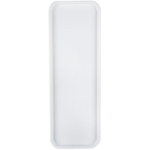 "Carlisle 269FG001 Customizable Bone White 9"" x 26"" Glasteel Display / Bakery Fiberglass Tray - 12/Case Main Image 1"