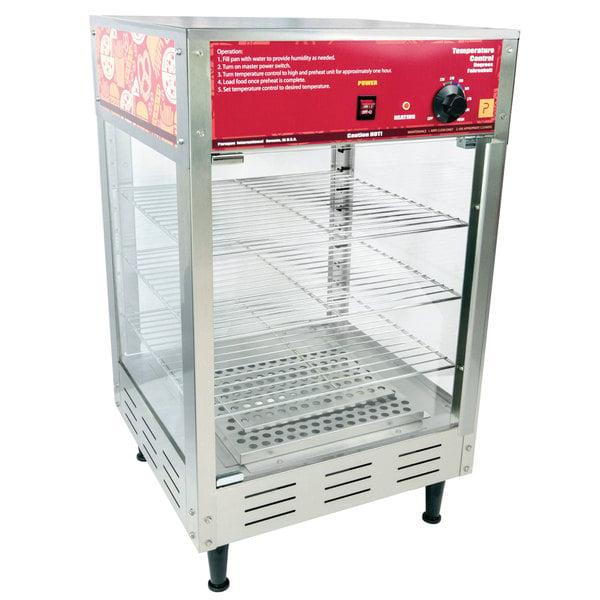 "Paragon 2101120 Humidified Hot Food Holding and Display Cabinet with Three 16"" Racks Main Image 1"