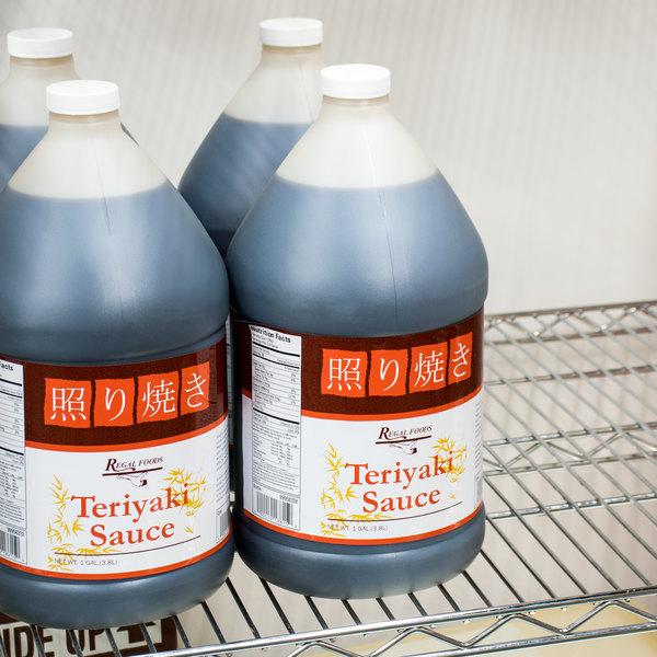 Regal Foods Teriyaki Sauce 1 Gallon Bulk Container - 4/Case