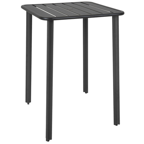 Black Aluminum Outdoor Indoor Bar Height Table With Main Picture