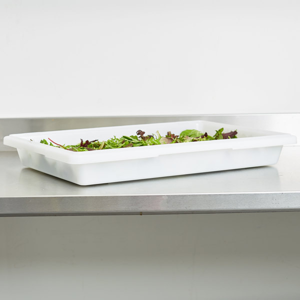 "Carlisle 1064002 StorPlus 26"" x 18"" x 3 1/2"" White Food Storage Box"