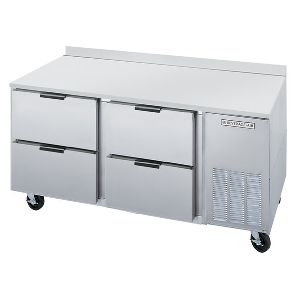 """Beverage-Air WTRD67AHC-4 67"""" Compact Worktop Refrigerator with Four Drawers Main Image 1"""
