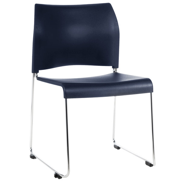 National Public Seating 8804-11-04 Cafetorium Navy Blue Stacking Chair Main Image 1