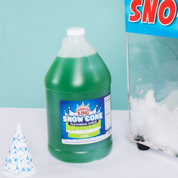 Carnival King 1 Gallon Lime Snow Cone Syrup