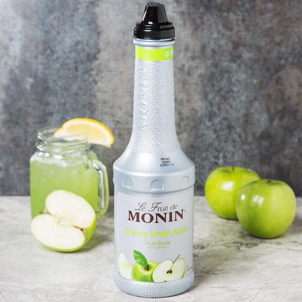 Monin 1 Liter Granny Smith Apple Fruit Puree