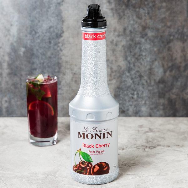 Monin 1 Liter Black Cherry Fruit Puree