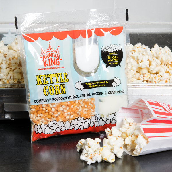 Carnival King All-In-One Kettle Corn Popcorn Kit for 6 oz. Popper - 24/Case