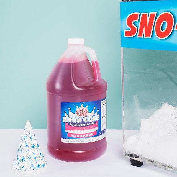 Carnival King 1 Gallon Watermelon Snow Cone Syrup