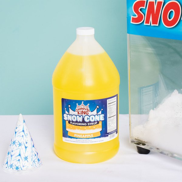 Carnival King 1 Gallon Pineapple Snow Cone Syrup Main Image 2