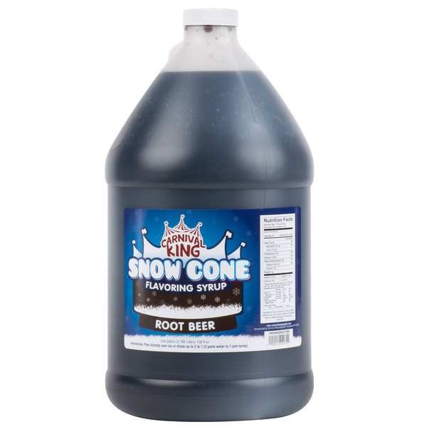 Carnival King 1 Gallon Root Beer Snow Cone Syrup - 4 / Case
