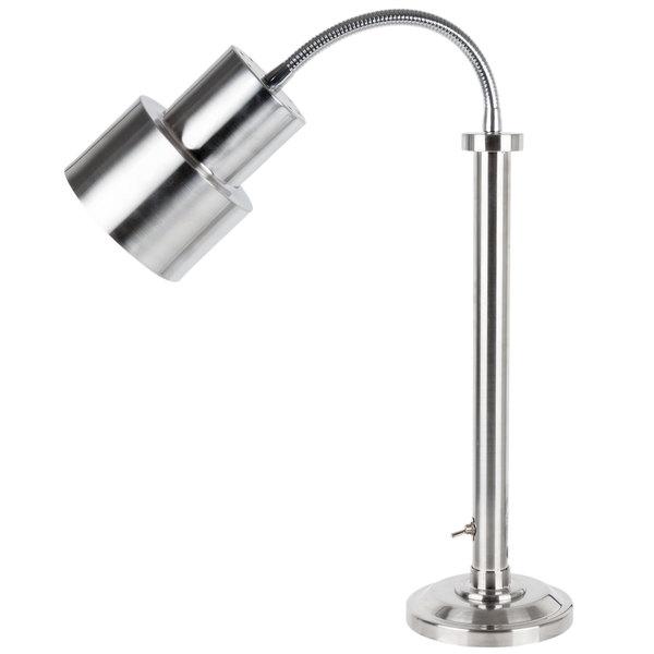 Hanson Heat Lamps SLM/200/ST/SS Stainless Steel Flexible Single Bulb Freestanding Heat Lamp