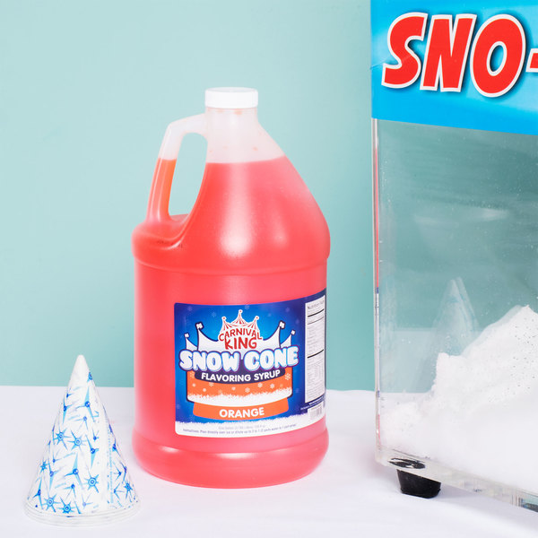 Carnival King 1 Gallon Orange Snow Cone Syrup Main Image 2