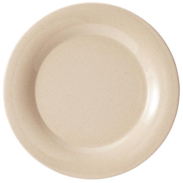 "GET BAM-1010 BambooMel 10 1/2"" Wide Rim Plate - 12/Case"