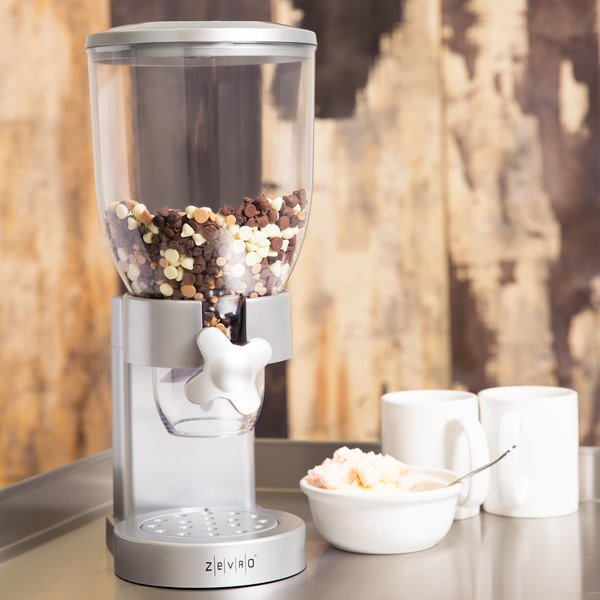 Zevro KCH-06119 Silver Single Canister Dry Food Dispenser