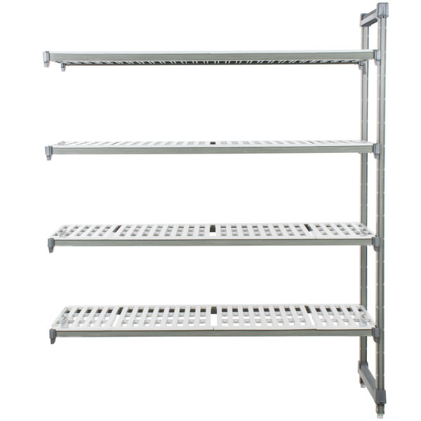 "Cambro EA247272V4580 Camshelving® Elements 4 Shelf Vented Add On Unit - 24"" x 72"" x 72"""
