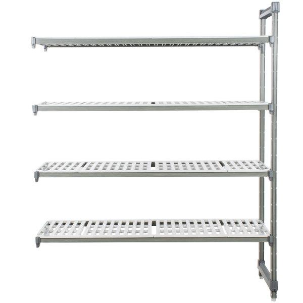 "Cambro EA214272V4580 Camshelving® Elements 4 Shelf Vented Add On Unit - 21"" x 42"" x 72"""