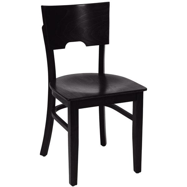 BFM Seating SWC304EB-EB Weston Ebony Colored Beechwood Side Chair