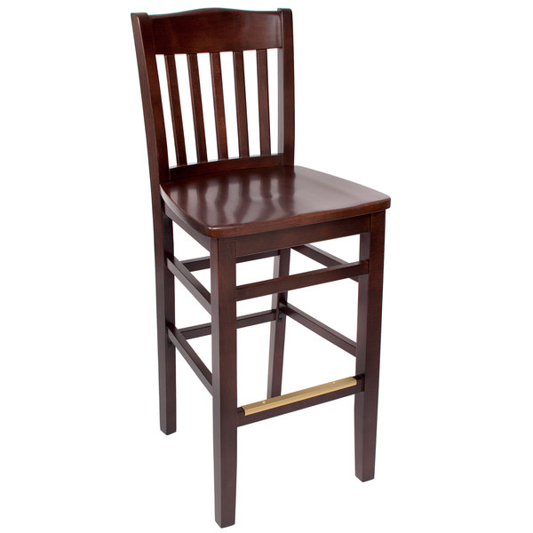 Lovely BFM Seating SWB303CW CW Columbia Classic Walnut Colored Beechwood Bar Height  Chair