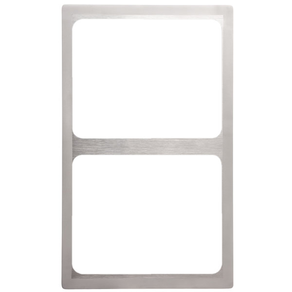 Vollrath 8243016 Miramar Stainless Steel Adapter Plate with Satin Finish Edge for Two Small Food Pans