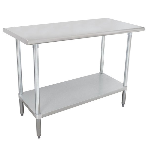 """Advance Tabco MSLAG-243-X 24"""" x 36"""" 16 Gauge Stainless Steel Work Table with Undershelf"""