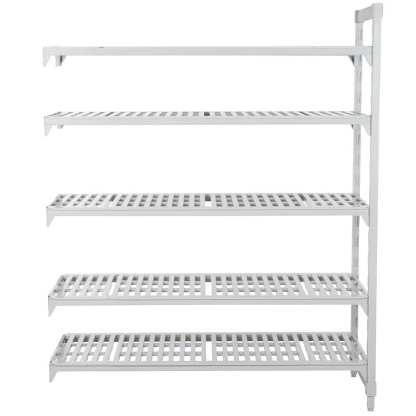"Cambro CPA212464V5480 Camshelving® Premium 5 Shelf Vented Add On Unit - 21"" x 24"" x 64"""