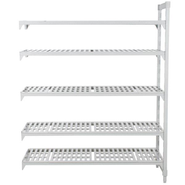 "Cambro CPA183072V5480 Camshelving® Premium 5 Shelf Vented Add On Unit - 18"" x 30"" x 72"""