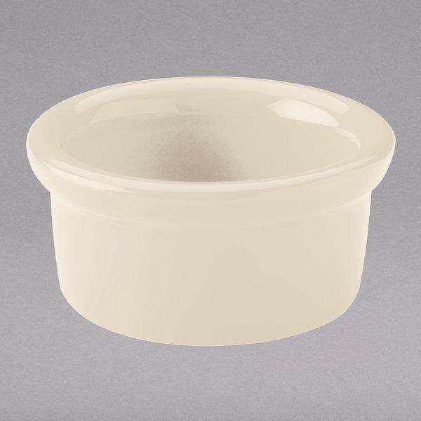Hall China 3630AWHA Ivory (American White) 3.5 oz. Round China Ramekin - 36/Case