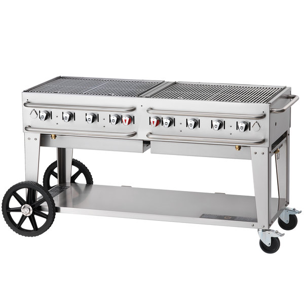 "Crown Verity RCB-72-LP 72"" Pro Series Portable Outdoor Rental Grill"