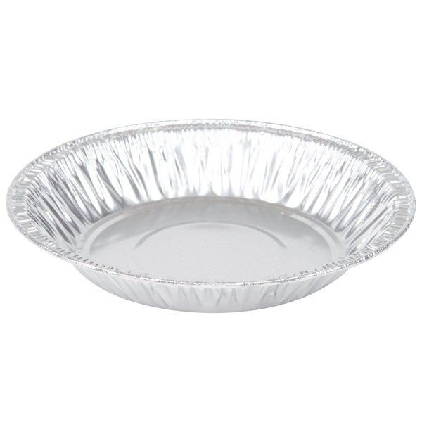 D&W Fine Pack 11600 6 inch x 1 inch Shallow Foil Pie Pan  - 100/Pack