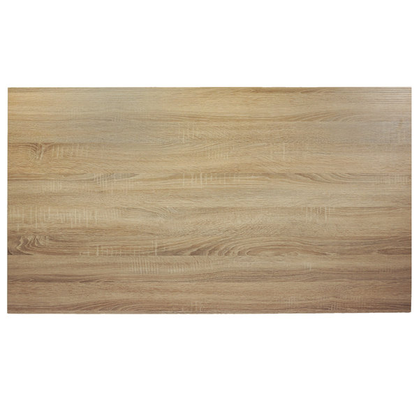 "BFM Seating SO3072 Midtown 30"" x 72"" Rectangular Indoor Tabletop - Sawmill Oak Finish Main Image 1"