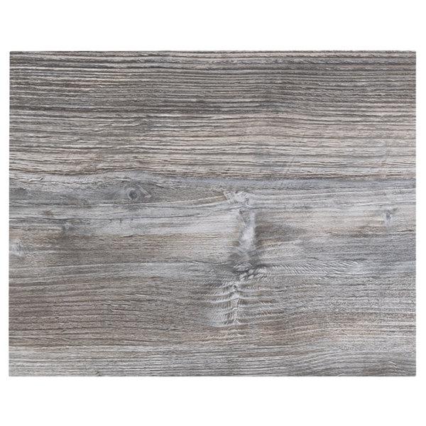 "BFM Seating DW2430 Midtown 24"" x 30"" Rectangular Indoor Tabletop - Driftwood Main Image 1"