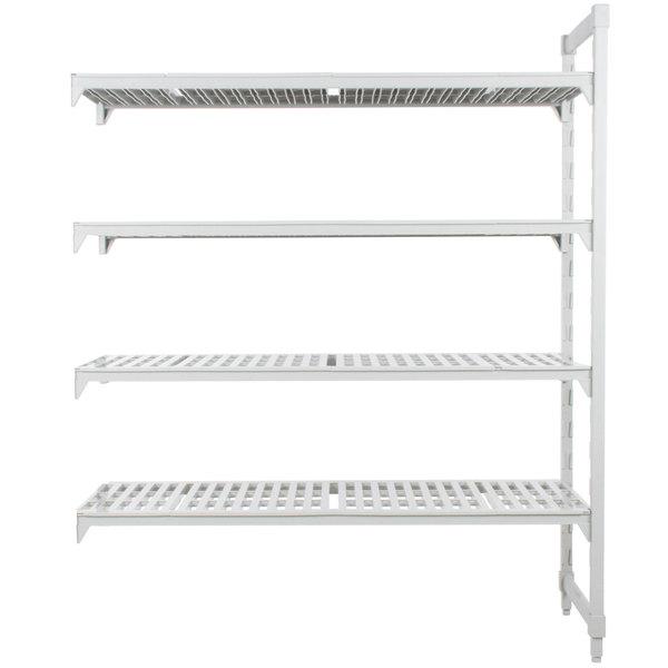 "Cambro CPA187284V4PKG Camshelving® Premium 4 Shelf Vented Add On Unit - 18"" x 72"" x 84"""
