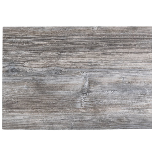"BFM Seating DW3042 Midtown 30"" x 42"" Rectangular Indoor Tabletop - Driftwood Main Image 1"