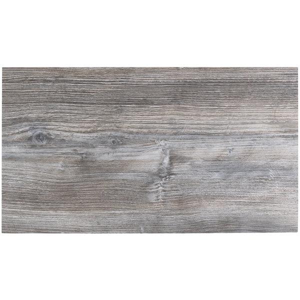 "BFM Seating DW3060 Midtown 30"" x 60"" Rectangular Indoor Tabletop - Driftwood"