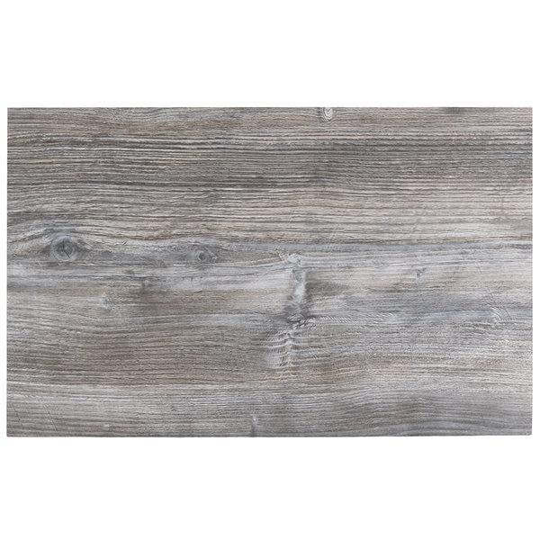 "BFM Seating DW3048 Midtown 30"" x 48"" Rectangular Indoor Tabletop - Driftwood"