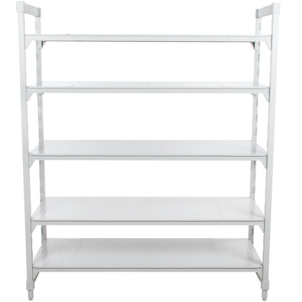 "Cambro CPU246072VS4480 Camshelving Premium Solid 5-Shelf Stationary Starter Unit - 24"" x 60"" x 84"""