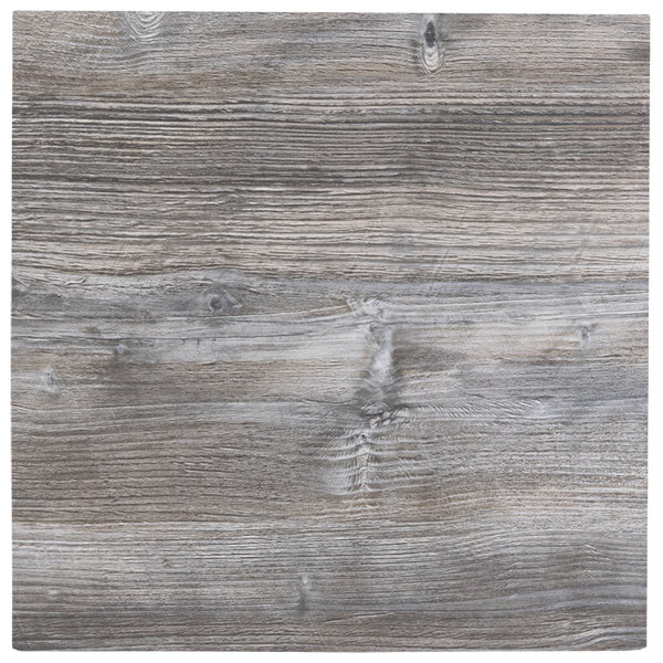 """BFM Seating DW2424 Midtown 24"""" Square Indoor Tabletop - Driftwood"""