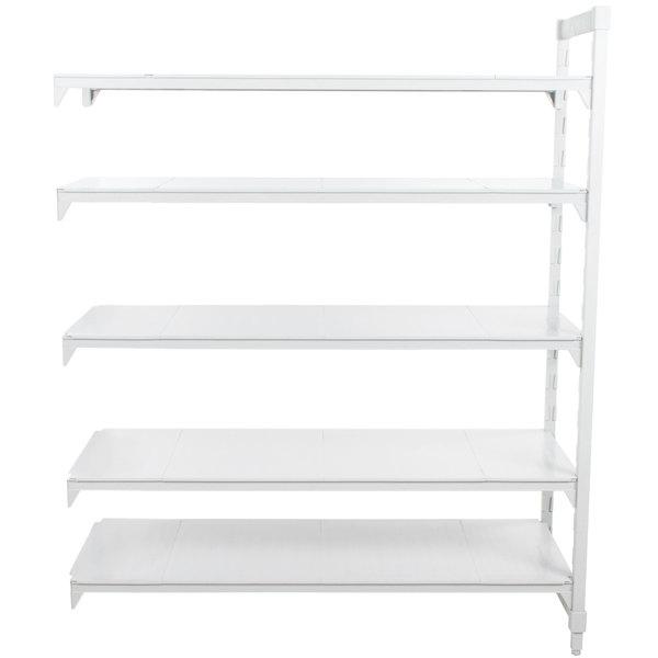 "Cambro CPA184284S5PKG Camshelving® Premium Solid Add On Unit 18"" x 42"" x 84"" - 5 Shelf"
