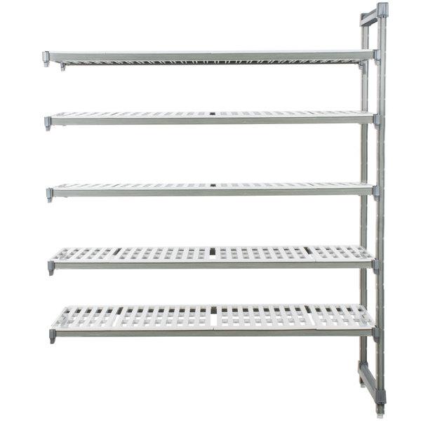 "Cambro EA242464V5580 Camshelving® Elements 5 Shelf Vented Add On Unit - 24"" x 24"" x 64"""
