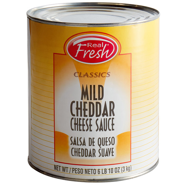Real Fresh Mild Cheddar Nacho Cheese Sauce #10 Can - 6/Case