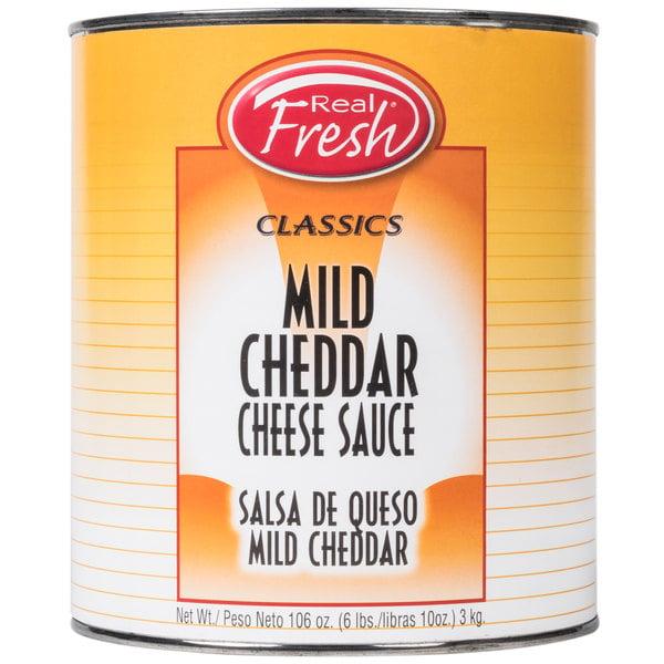 Real Fresh Mild Cheddar Nacho Cheese Sauce #10 Can - 6/Case