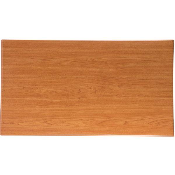 "BFM Seating TTRSN3072CH Resin 30"" x 72"" Rectangular Indoor Tabletop - Cherry Main Image 1"