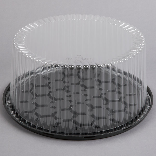 D&W Fine Pack G40-1 10 inch 2-3 Layer Cake Display Container with Clear Dome Lid - 80/Case