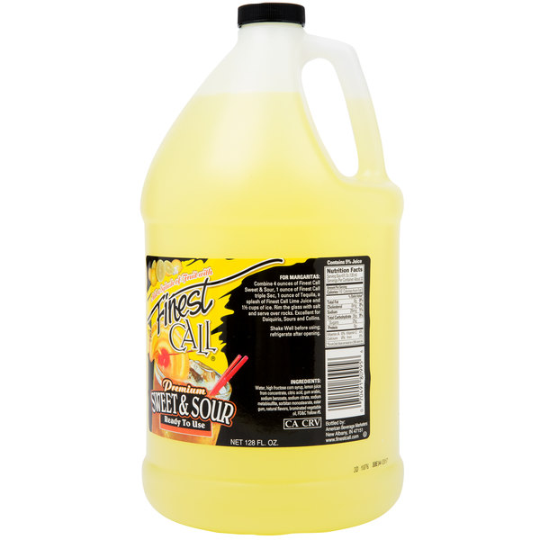 Finest Call 1 Gallon Ready-to-Use Sweet and Sour Drink Mix