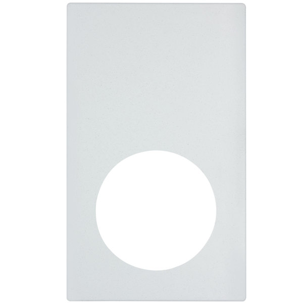 Vollrath 8240620 Miramar Resin Adapter Plate for Medium Round Pans - White Stone