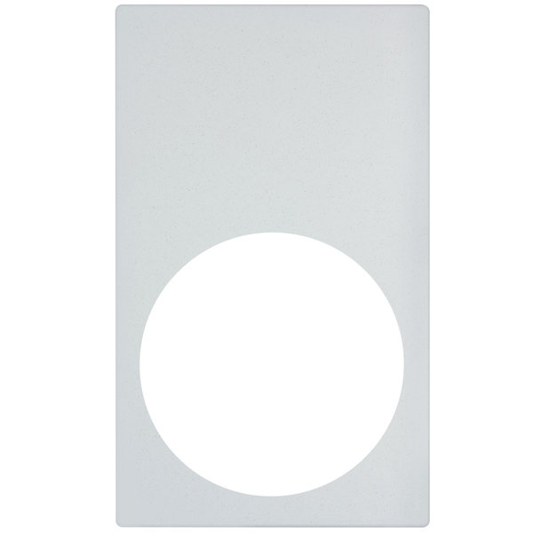 Vollrath 8240720 Miramar Resin Adapter Plate for Large Round Pan - White Stone