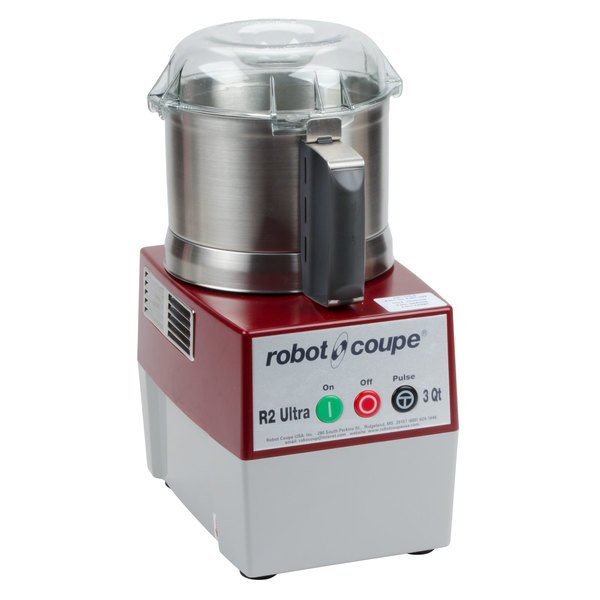 Robot Coupe R2 Ultra B Food Processor with 3 Qt. Stainless Steel Bowl - 1 hp