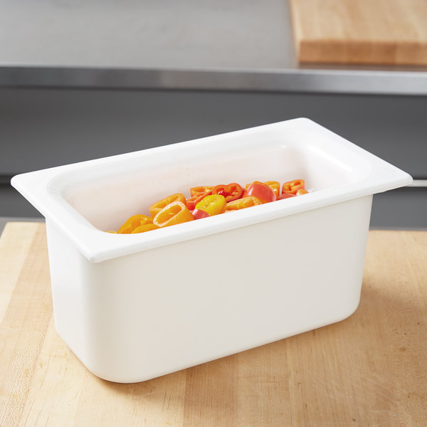 "Carlisle CM110202 Coldmaster 1/3 Size White Cold Food Pan - 6"" Deep"